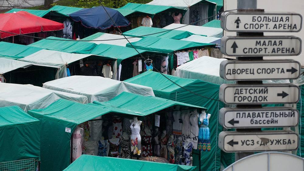 """Рынок """"Лужники"""". 2011 год. Фото ИТАР-ТАСС/ Митя Алешковский"""