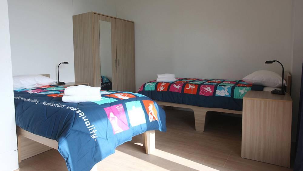 Комната для олимпийцев в Олимпийской деревне