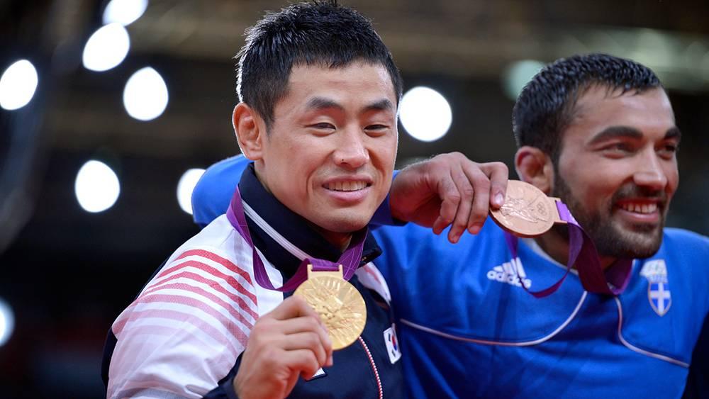 Сон Дэ Нам из Южной Кореи победил в соревнованиях по дзюдо в весовой категории до 90 кг
