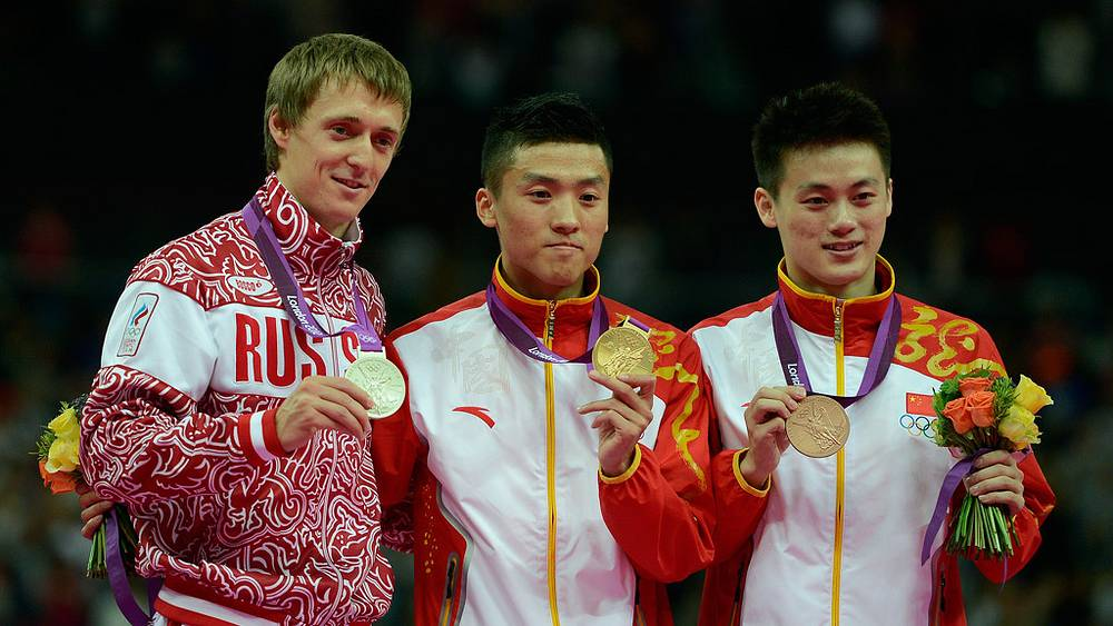 Дмитрий Ушаков /Россия/, Дун Дун /Китай/ и Лю Чуньлун /Китай/