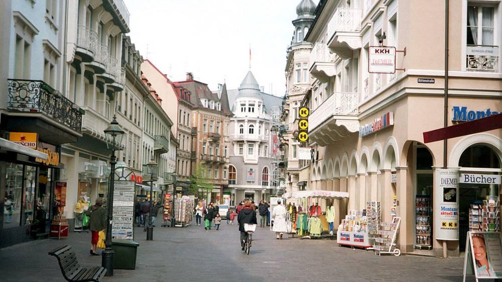 Улица Баттенсгабе в Баден-Бадене