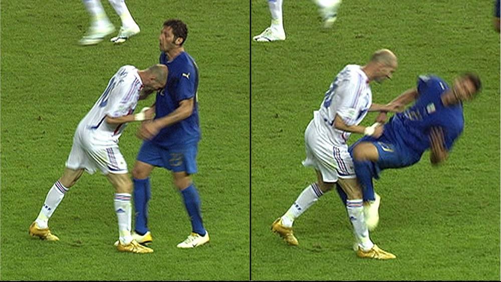 Болельщикам запомнился момент, когда Зизу был удален с поля после того, как нанес удар оскорбившему его игроку сборной Италии Марко Матерацци