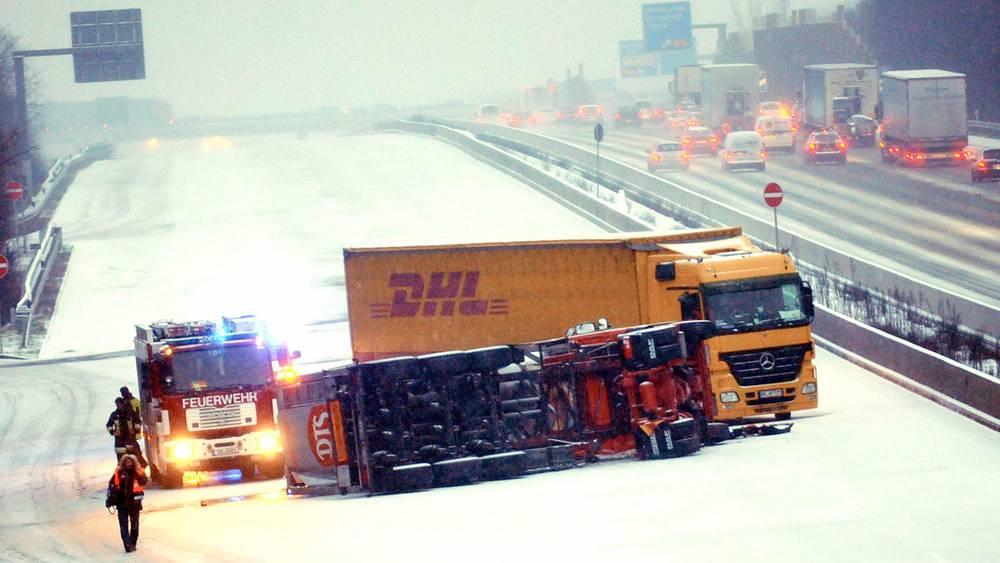 ДТП из-за снегопада в Германии