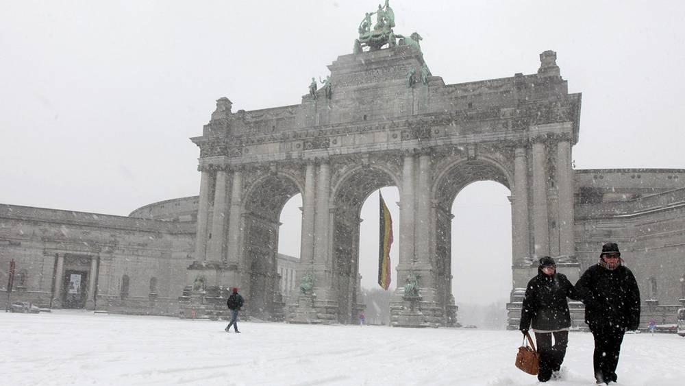 Снегопад в Брюсселе