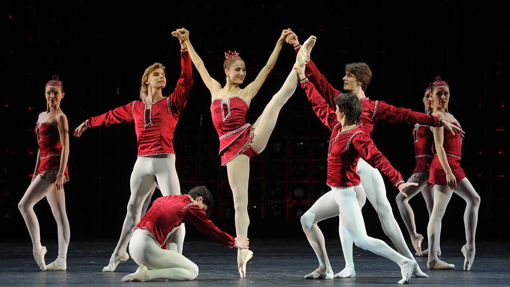 "Сцена из балета ""Рубины"""
