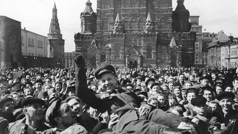 Празднование Дня Победы на Красной площади 9 мая 1945 года