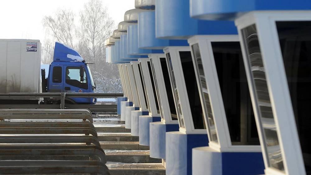 """Строительство платного участка автодороги """"М-4 Дон"""". Февраль 2012 года. Пропускные пункты"""