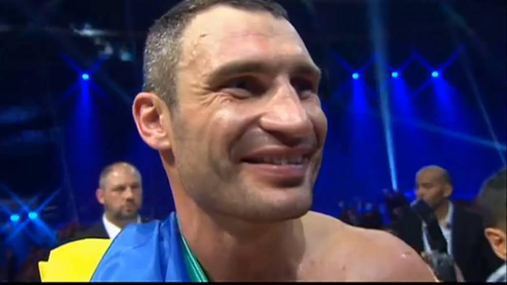 Чемпион мира Виталий Кличко