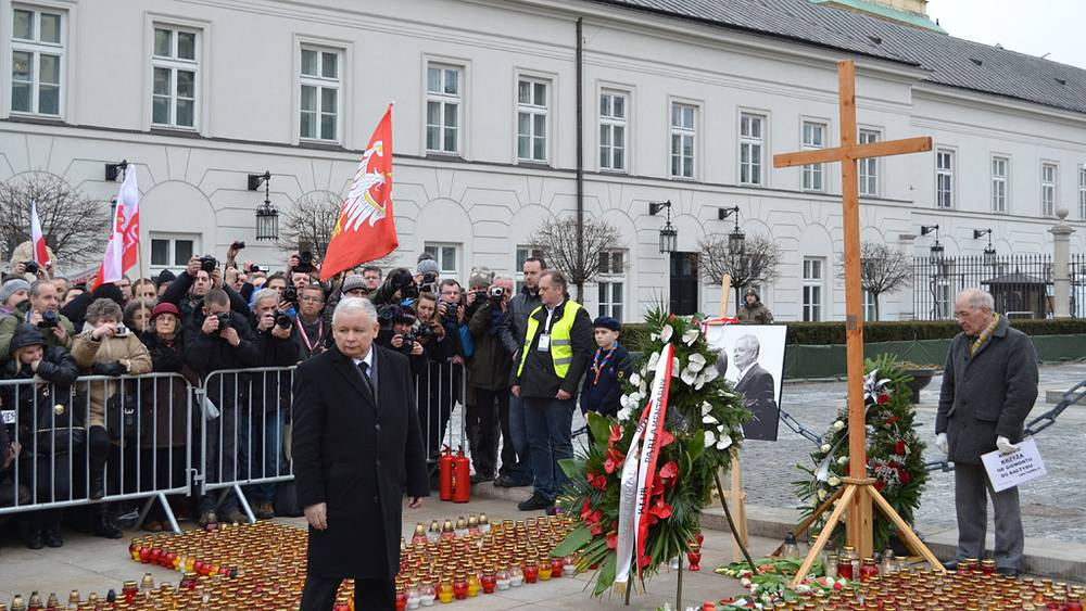 Траурные мероприятия в Варшаве