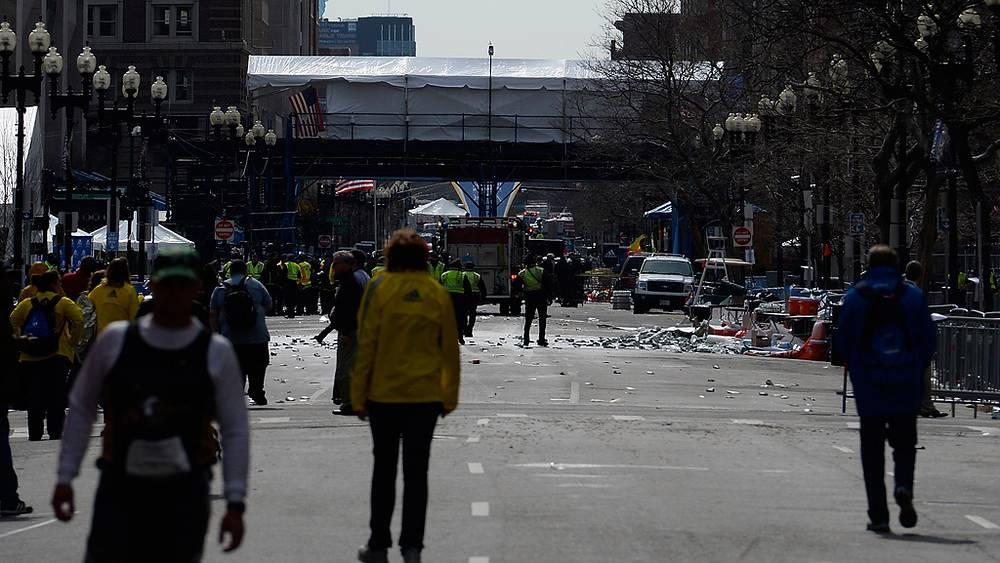 Бостон, на месте взрывов