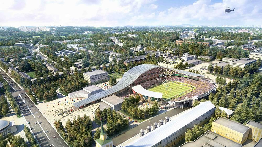 Макет стадиона в Ярославле