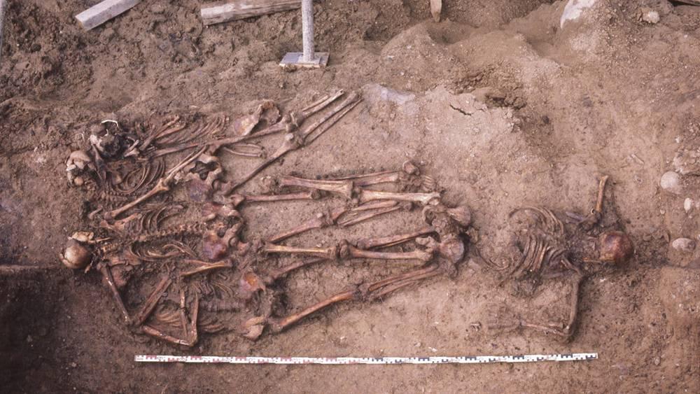 Останки русских воинов были найдены во время строительства тоннеля Мильхбук в Цюрихе в 1976 году /Фото предоставлены Управлением археологии Цюриха/