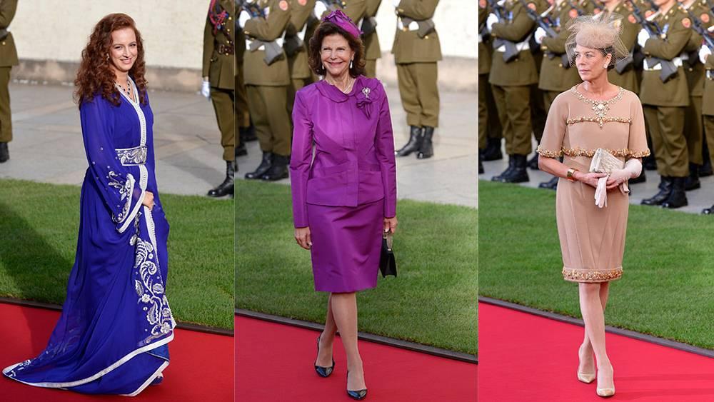 Слева направо: принцесса Марокко, королева Швеции, принцесса Каролина Ганноверская