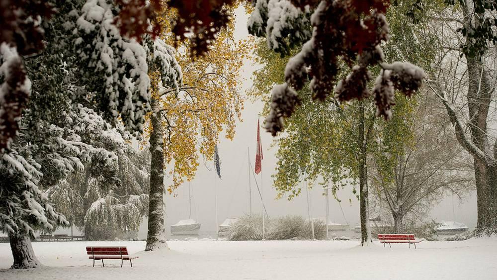 Снегопад в Швейцарии