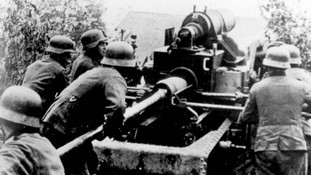 Немецкая артиллерия под Ленинградом, 1941 год
