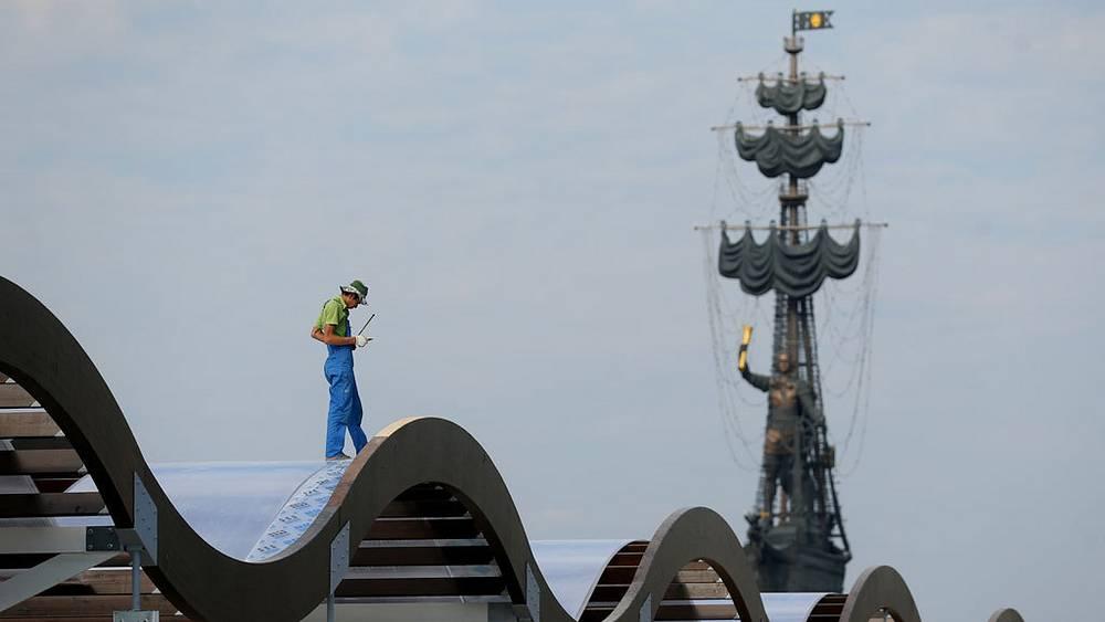 Реконструкция Крымской набережной. Фото ИТАР-ТАСС/Валерий Шарифулин