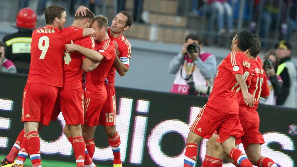 Радость российских футболистов