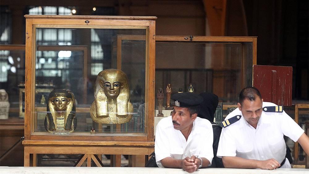 Открытие выставки древних артефактов в Египетском музее. Фото EPA/KHALED ELFIQI