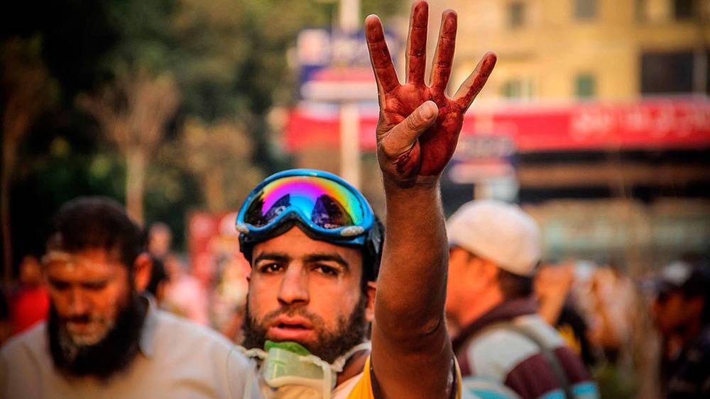 Митинг в Каире, приуроченный к 40-летию начала арабо-израильской войны. Фото EPA/MOSAAB ELSHAMY
