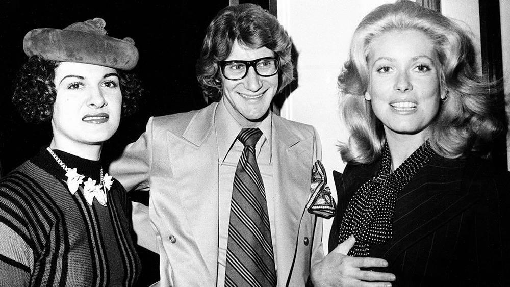 Палома Пикассо, Ив Сен-Лоран и Катрин Денев, 1971 г. Фото AP