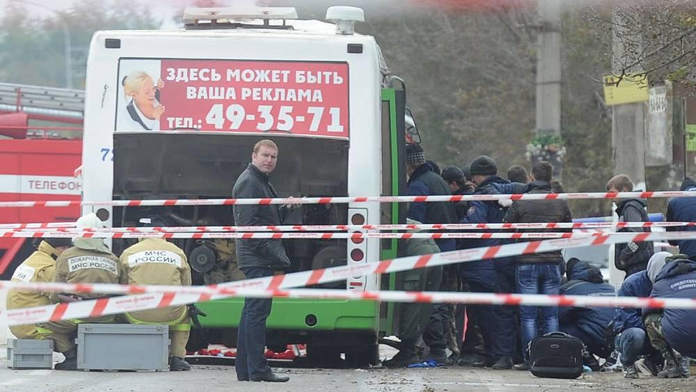 На месте взрыва. Фото ИТАР-ТАСС/ Дмитрий Рогулин