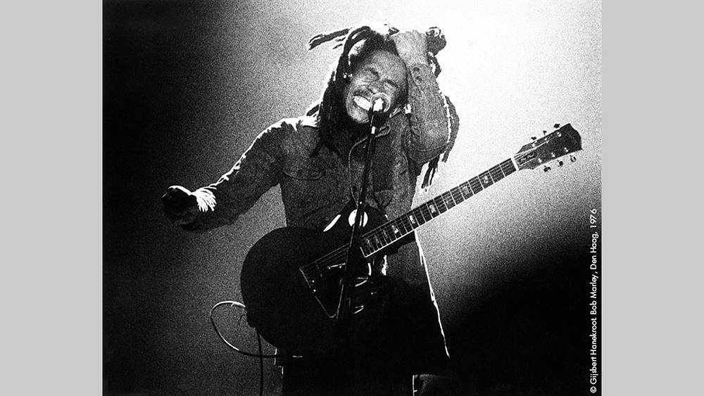 Боб Марли, 1976 г. Фото Гилберт Ханекроот