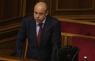 Ukrainian parliament-appointed energy and coal mining industry minister Yuriy Prodan