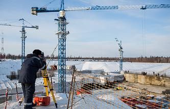 Vostochny spaceport construction site