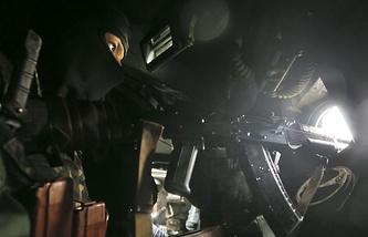 Inside a Ukrainian army APC near Sloviansk