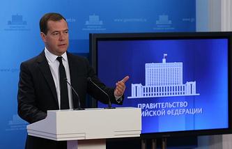 Prime Miniwster Dmitry Medvedev