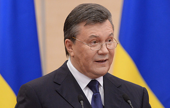 Виктор Янукович во время пресс-конференции 11 марта