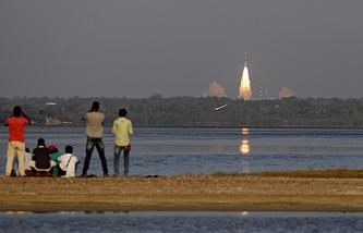 Запуск спутника в Индии