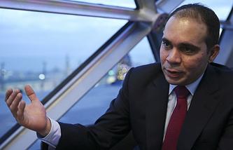 Кандидат на пост президента ФИФА принц Иордании Али бин Аль-Хусейн