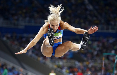 Russian track and field athlete Klishina makes it to final in long jump in Rio