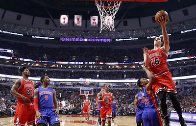 """""""Чикаго"""" победил """"Детройт"""" в матче НБА, Миротич набрал 28 очков"""