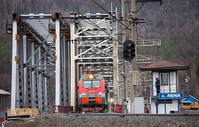 Восточно-Сибирская желдорога завершает строительство моста через реку Лена