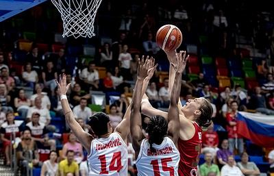 Российские баскетболистки обыграли черногорок и стали вторыми в группе на ЧЕ