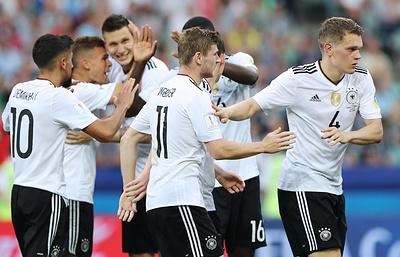 Сборная Германии обыграла команду Камеруна и вышла в полуфинал Кубка конфедераций