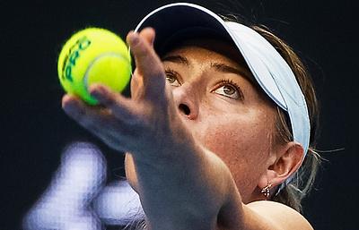 Шарапова вышла в полуфинал теннисного турнира в Тяньцзине