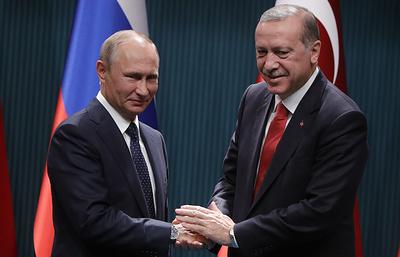 Путин поздравил Эрдогана с национальным праздником Турции