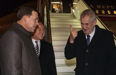 Президент Чехии прибыл в Екатеринбург с рабочим визитом