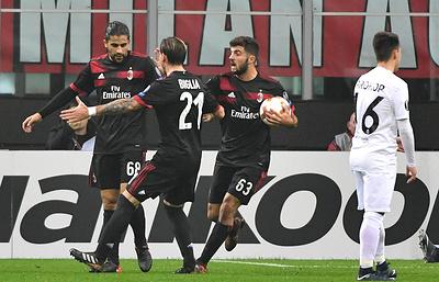 """""""Милан"""" победил """"Аустрию"""" и вышел в плей-офф Лиги Европы"""