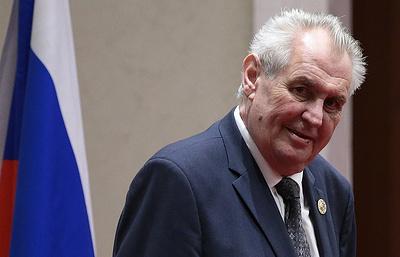 """Земан заявил о поддержке строительства """"Северного потока - 2"""""""