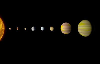 У звезды Kepler-90i обнаружены восемь экзопланет
