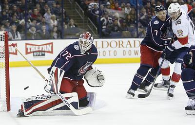 «Коламбус» обыграл «Флориду» по буллитам в матче НХЛ, Бобровский отразил 42 броска