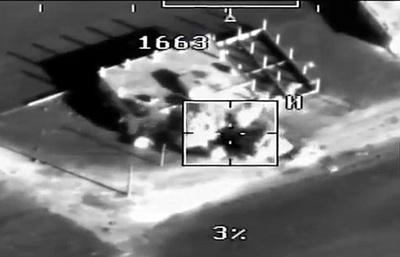 Минобороны опубликовало видео уничтожения боевиков в Сирии