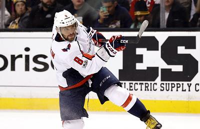 Овечкин набрал три очка в матче с «Каролиной» и единолично возглавил список снайперов НХЛ