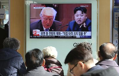 СМИ: КНДР назвала «криками сумасшедшего» слова Трампа о «большой ядерной кнопке»