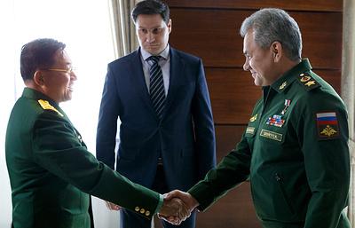 Шойгу отметил положительную динамику военного сотрудничества России и Мьянмы