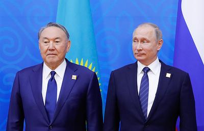 Путин обсудил с Назарбаевым итоги сирийского конгресса в Сочи